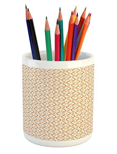 Ambesonne Geometric Pencil Pen Holder, Six Pointed Stars Pat
