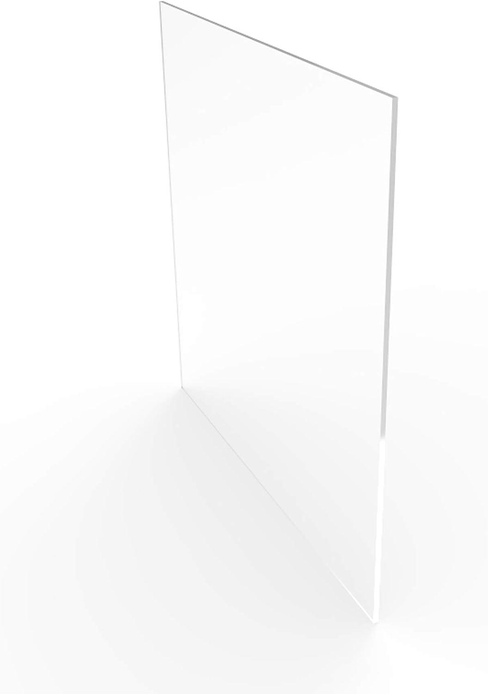 FixtureDisplays Set of 2 Pcs 11.8x11.8 Clear Acrylic Plexiglass Lucite Sheets 15641