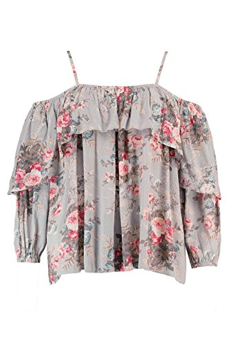 Boohoo Womens Plus Size Cally Floral Open Shoulder Top In Multi Size - Boohoo Off 20