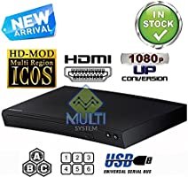 SAMSUNG BD-J5100 Reproductor de Blu-ray Disc Multi System Region Code Free Blu Ray Disc DVD Player - PAL/NTSC - USB - 100-240V 50/60Hz for World-Wide Use & 6 Feet HDMI Cable