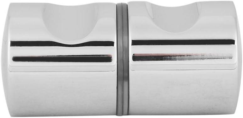 Alinory Bouton de Porte de Douche KN Bouton de poign/ée de Traction chrom/é en Alliage daluminium pour Le mat/ériel de Porte en Verre pour Salle de Bains #1