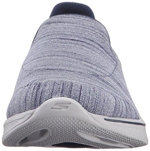 Skechers Go Walk 4-Satisfy, Zapatillas de Entrenamiento para Mujer Marino