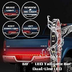 Danti Waterproof 60 Red White Tailgate Led Strip Light Bar Reverse Brake Turn Signal Tail For Ford Gmc Toyota Nissan Honda Truck Suv 4x4 Dodge Ram Chevy Chevrolet Avalanche Silverado