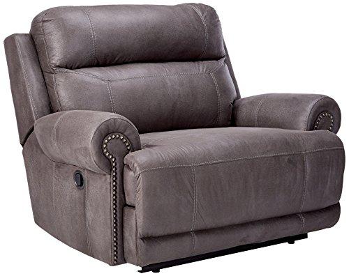 Ashley Furniture Signature Design Austere Manual Oversized Recliner - Gray
