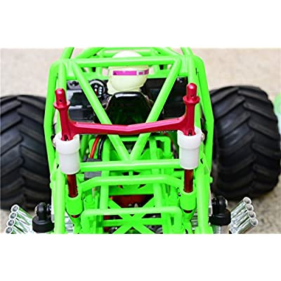 Axial SMT10 Grave Digger (AX90055) Upgrade Parts Aluminum Rear Body Post with Clip & Mount - 1Pc Set Blue: Toys & Games