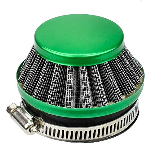 Green 58mm 60mm Air Filter for 2 stroke 39cc 37cc Water cooled Liquid Pocket Bike Mini Bike 49cc 60cc 80cc Engine Motor Motorized Bicycle Parts (Bike Water Mta4 Cooled Pocket)