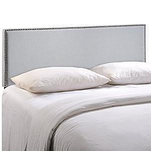 Amazon Com Modway Region King Nailhead Upholstered