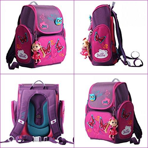 Moonwind Cute Princess Girls Backpacks for Elementary School Kids Book Bags