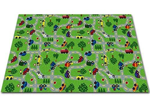 Kid Carpet FE818-56A Wavy Lines Kids Nylon Area Rug 12' x 10' Multicolored [並行輸入品] B07HLSCRP6
