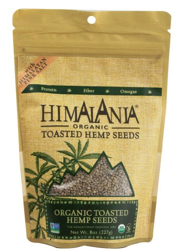 Himalania Organic Toasted Hemp Seeds with Himalayan Pink Salt, 8 Ounce (Pack of 12)
