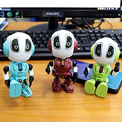 Talking Robots for Kids, Mini Robot Toys That Repeats What You Say with Colorful Flashing Lights to Help Toddlers Talking, Toys for 3,4,5,6+ Years Old Boys and Girls Gift (Green): Toys & Games
