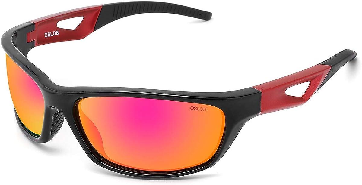 OSLOB polarizado gafas de sol deportivas para las mujeres de los hombres de ciclo que ejecuta la protección uv gafas de conducción st003