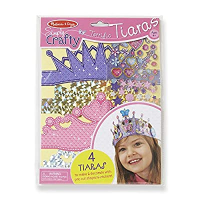 Melissa & Doug Simply Crafty Terrific Tiaras Jewelry-Making Kit (Makes 4 Tiaras, Great Gift for Girls and Boys - Best for 4, 5, 6, 7, 8 Year Olds and Up): Melissa & Doug: Toys & Games