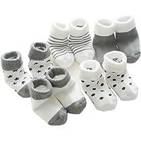 IKRR 5 piezas Baby's Socks Calcetines para Bebes Niños Niñas Algodón Bebe Recién Nacido