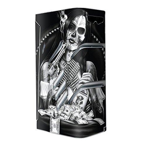 Skin Decal Vinyl Wrap for Smok T-Priv Vape stickers skins cover/ Skull girl Gangster, Day of the Dead