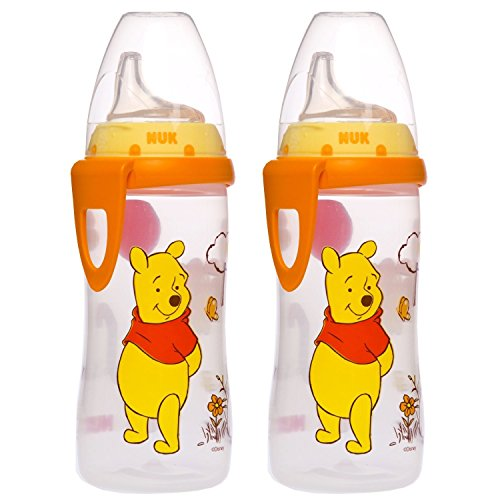 Nuk Classic Latex - NUK Disney Winnie the Pooh Silicone Spout Active Cup, 10-Ounce (2 Pack)