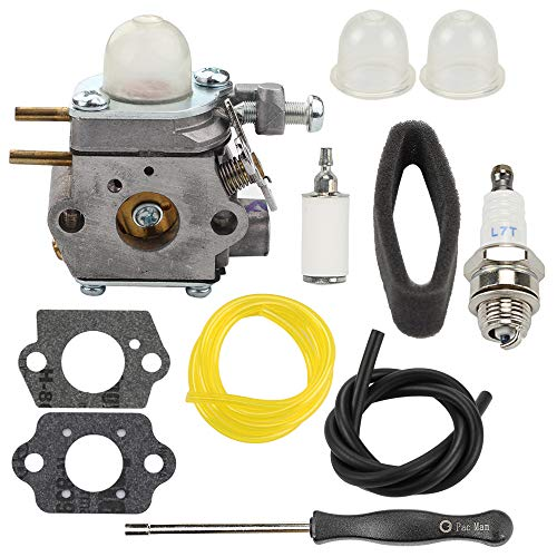 - Carburetor for Troy-Bilt TB80EC TB32EC YM21CS TB21EC TB22EC TB2040XP TB22 2 Cycle String Trimmer Gas Craftsman Weed Eater Whacker 27CC Replaces # WT-973 MTD 753-06190 with Tool Fuel Line Filter