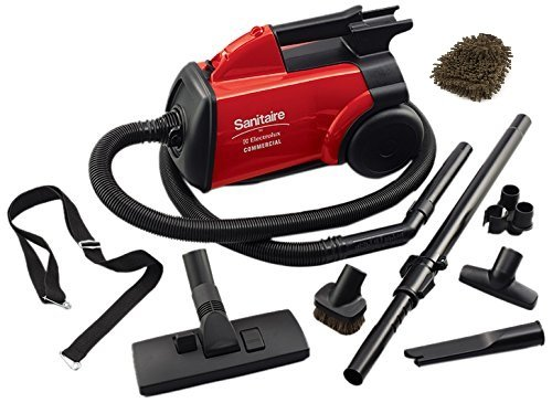 Sanitaire SC3683B Canister Vacuum, Detail Cleaning Commercial, Red (Complete Set)