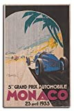 Monaco - 23 Avril (artist: Ham c. 1933) - Vintage Advertisement (10x15 Wood Wall Sign, Wall Decor Ready to Hang)