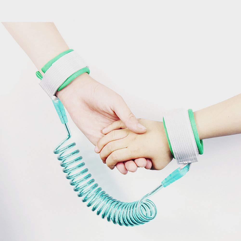 Corde de liaison au poignet de s/écurit/é ou corde de traction pour b/éb/é enfants 2M 1PC rose