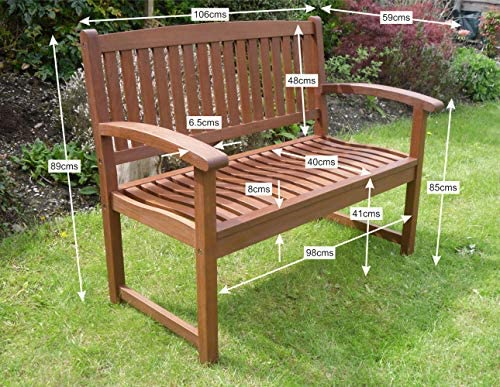 Henley Hardwood 2 Seat Garden Bench Great Outdoor Furniture For Your Garden Or Patio Garden Furniture Accessories Garden Outdoors