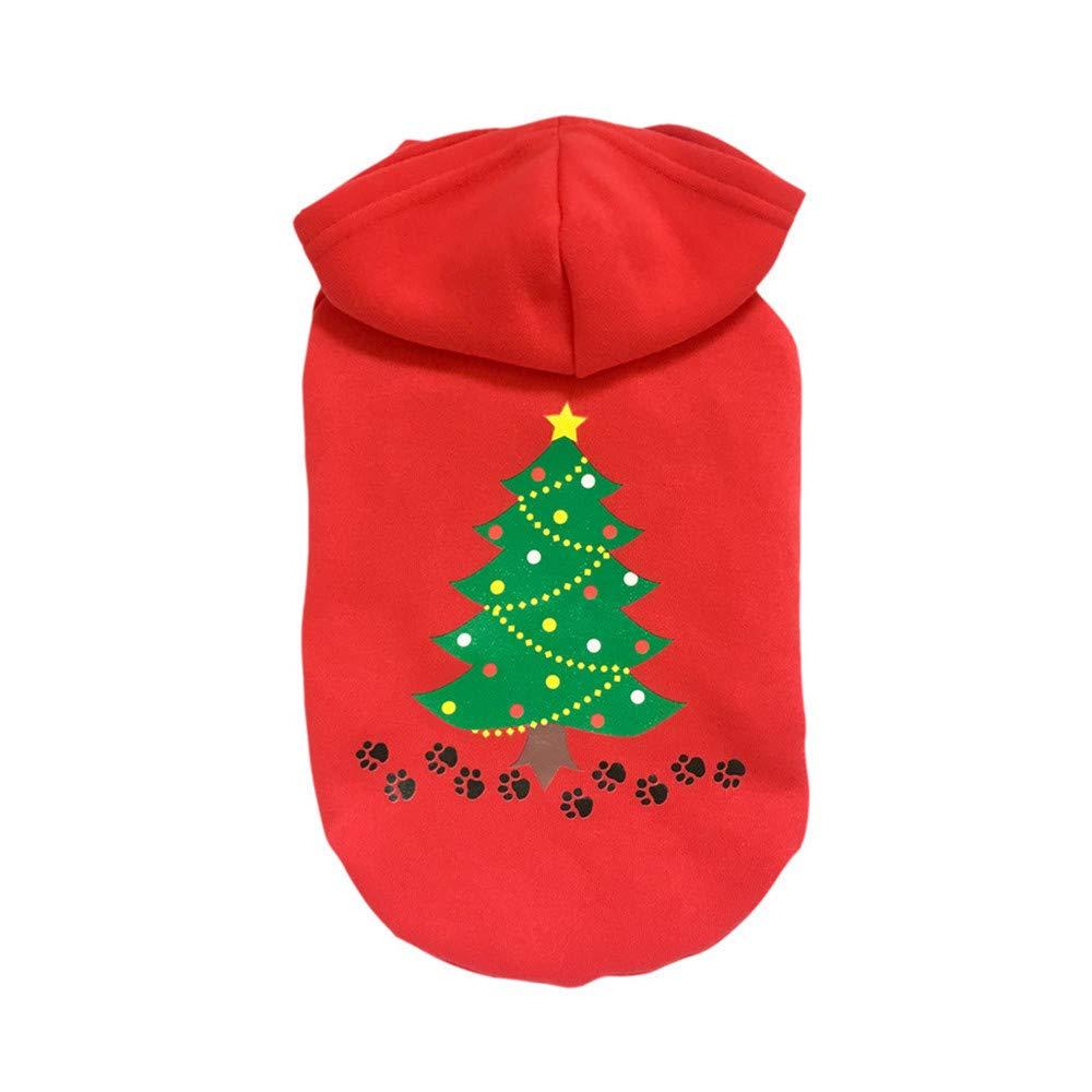 zolimx® Perros Ropa Navidad, Navidad Ropa para Mascotas Cachorro Otoño Invierno Caliente Jersey de Alto Grado Abrigos y Chaquetas de Sudadera zolimx-1987