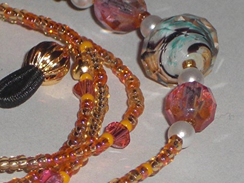 - Eyeglass Chain Orange Mix Glass Beads