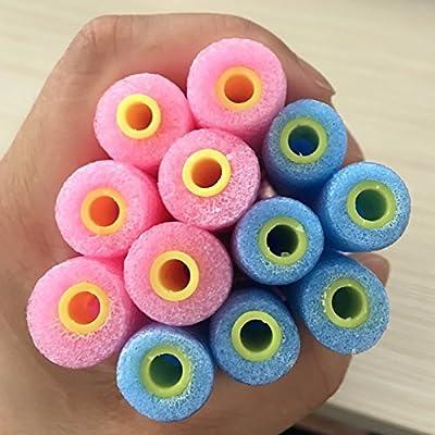 Homclo - 12 unidades de rulos mágicos de esponja Diy espirales para el pelo, de plástico con herramientas de peinado, para mujeres y mujeres: Amazon.es: Salud y cuidado personal