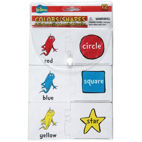 (Eureka Dr. Seuss Back to School Red Fish Blue Fish Puzzle for Kids, 12pc )
