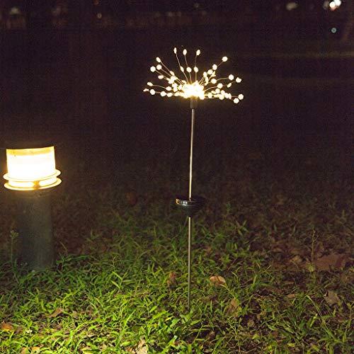 SAYEI 90LED Solar Power Garden Light Christmas Outdoor Fireworks LED Modern Lawn Lamp Snowflake Shaped Romantic Backyard Patio Wedding Party Atomosphere Beautiful Flower Lantern