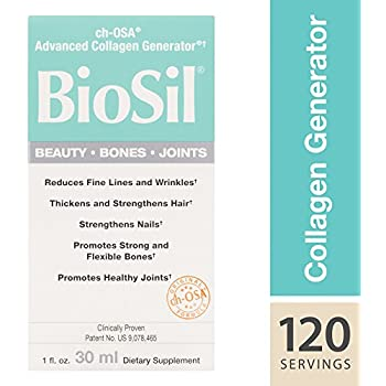 BioSil - Beauty, Bones, Joints Liquid, Advanced Collagen Support for Hair, Skin, Nails, and Joints, 120 Servings (1 oz) (FFP)