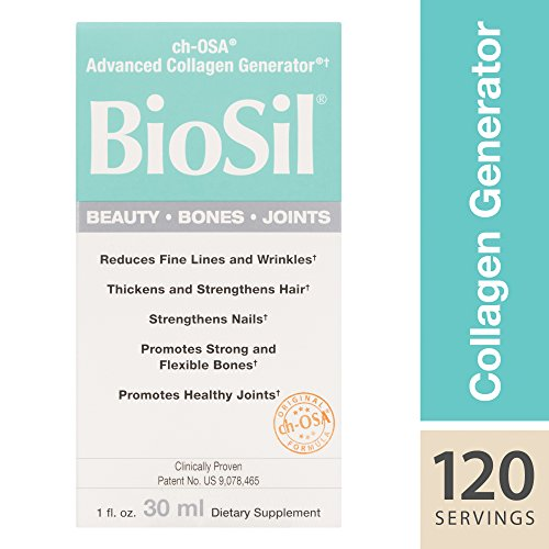 BioSil by Natural Factors, Beauty, Bones, Joints Liquid, Supports Collagen Production for Hair, Skin and Nails, Vegan, 1 fl oz (120 Servings)