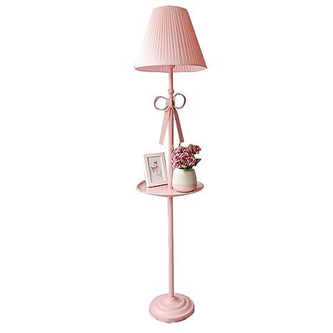 Lámpara de piso Princesa nórdica chica romántica cálida lámpara de ...