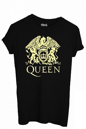Mush T Shirt Avec Logo Du Groupe Queen Imprime Noir Noir Bambino Xl