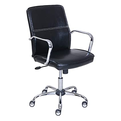 Beau Aidriney Swivel Chair Office Household Chair Lift White Leather Rotating  Chair Conference Chair Staff