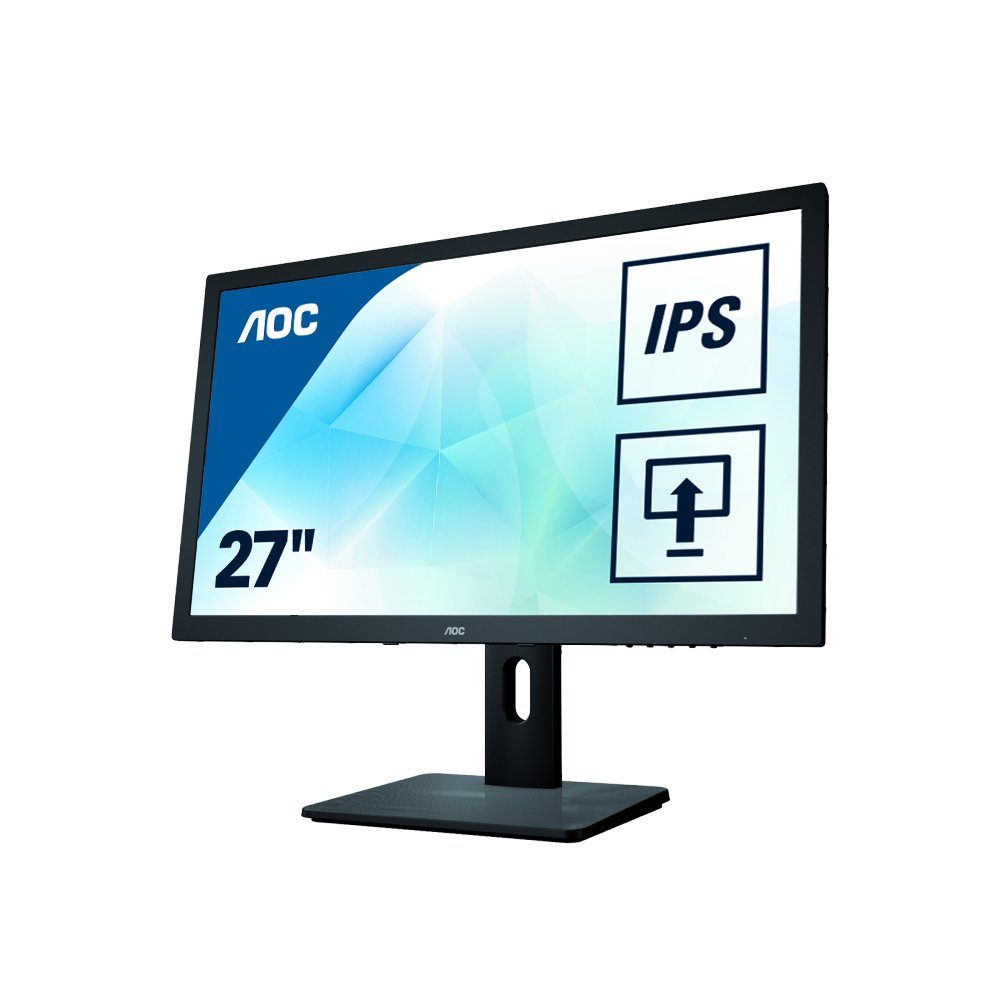AOC Monitores I2775PQU - Monitor de 27' (resolució n 1920 x 1080 Pixels, tecnologí a WLED, Contraste 1000:1, 4 ms, VGA), Color Negro AOC Monitores I2775PQU - Monitor de 27 (resolución 1920 x 1080 Pixels tecnología WLED AOC International