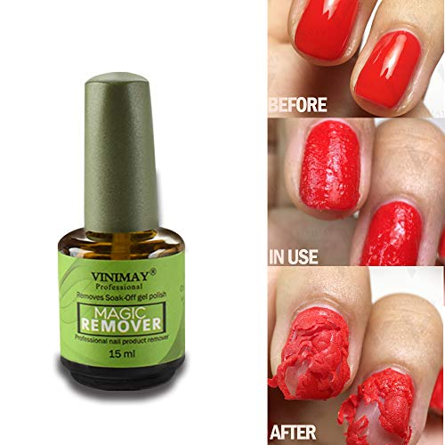 CARETHYS Magic Nail Polish Remover Professional Removes Soak-Off Gel Nail Polish In 3-5 Minutes, Easily & Quickly,Don
