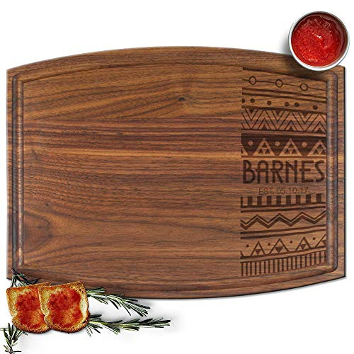 Froolu Indian Aztec Cute cutting board for Name & Est Date Christmas Gifts