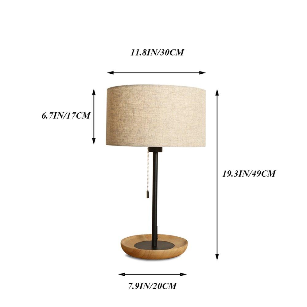 Wooden Table Lamp Nordic Simple Creative Student Children Desk Desk Lamp Bedroom LED Bedside Lamp Decorative Set Energy Saving Desk Lamp by Lizichun (Image #6)