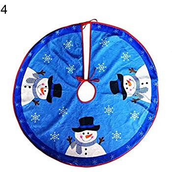 Amazon Com D FantiX 37 Inch Velvet Christmas Tree Skirt Christmas  - Blue Christmas Tree Skirt