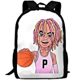 WANGZII Lil pump Backpack For Women Men,School Hip Hop College Backpack Lightweight Packable Travel Hiking Fashion Backpack