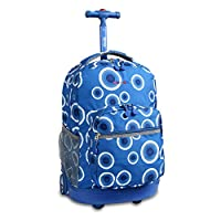 Mochila con ruedas J World New York Sunrise, Blue Target, Talla única