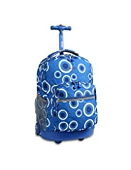 J World New York Sunrise Rolling Backpack, Blue Target, One S...