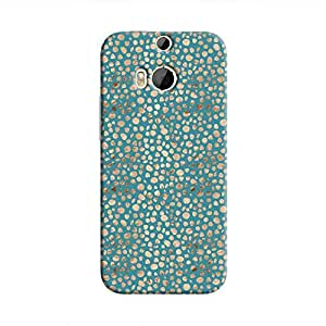 Cover It Up - Brown Blue Pebbles Mosaic One M9 Plus Hard Case