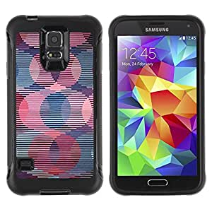 Suave TPU GEL Carcasa Funda Silicona Blando Estuche Caso de protección (para) Samsung Galaxy S5 V / CECELL Phone case / / Retro Wallpaper Striped Pattern Pink /