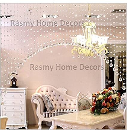 Buy rasmy home decors crystal curtain partition spaces wedding rasmy home decors crystal curtain partition spaces wedding decoration home hotel shop decoration junglespirit Image collections