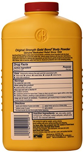 Gold Bond Medicated Powder, 10 Ounce Containers (Pack of 3), Helps Soothe and Relieve Skin Irritaitons and Itching, Cools, Absorbs Moisture, Deodorizes by Gold Bond (Image #3)