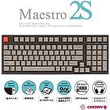 アーキサイト ARCHISS Maestro2S ゲーミング メカニカル スペースセービングフルキーボード 英語 (US ANSI)配列 黒ボディ・グレーキーキャップモデル 静音赤軸 AS-KBM98/SRGB