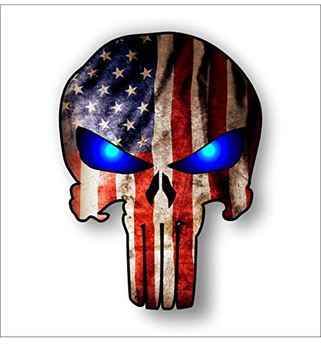 American Flag Punisher sticker decal