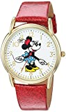 Disney Women's 'Minnie Mouse' Quartz Metal Casual Watch, Color:Red (Model: WDS000412)